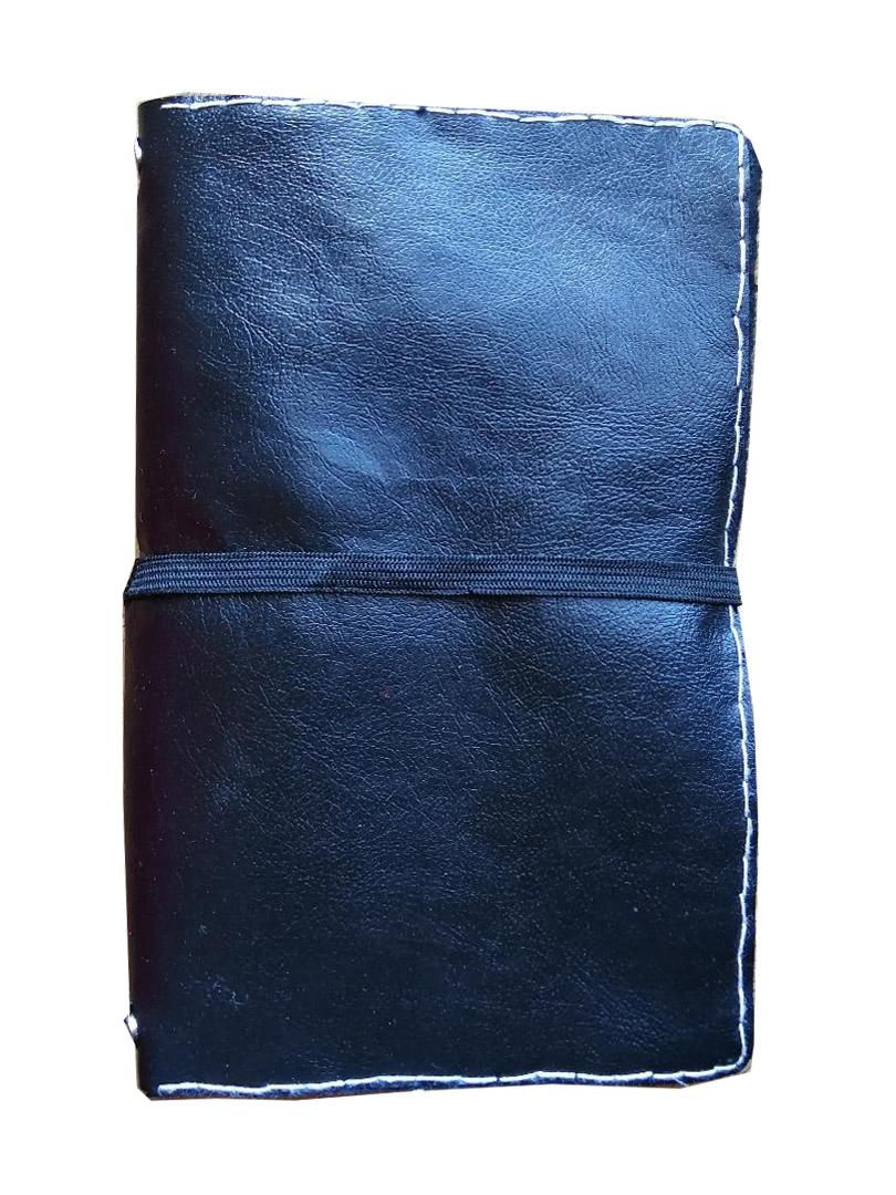 Quaderno in pelle nero semplice